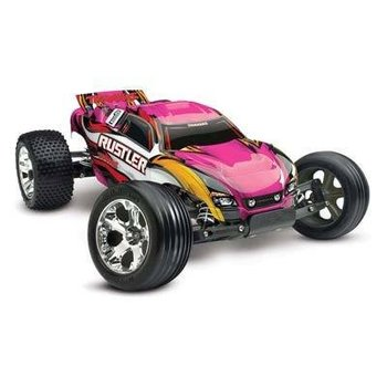 Traxxas 37054-1-PINK Pink Edition Rustler 1/10 Stadium Truck RTR