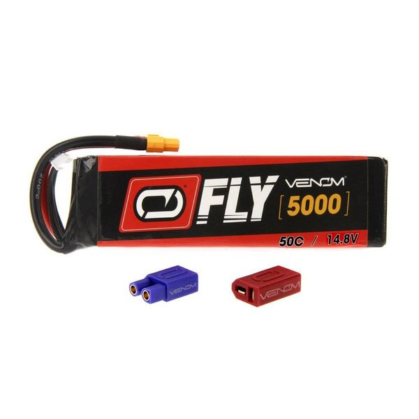 25046 LiPo 4S 14.8V 5000mAh 50C Universal Plug 2.0 Fly