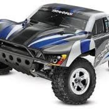Traxxas 58024-BLUE Slash 1/10 2WD Blue, Xl-5 RTR w/2.4GHz Radio - No Battery or
