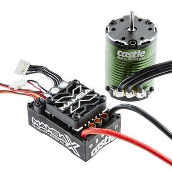 Castle Creations 010-0155-01 Mamba X Sensored 25.2V WP ESC + 1406-4600KV