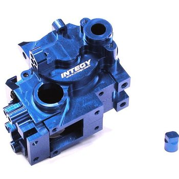 Integy BILLET MACHINED GEAR BOX SET FOR TRAXXAS 1/10 JATO T8002BLUE