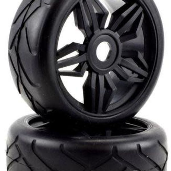APEX Apex RC Products 1/8 On-Road Black Diamond Wheels & Super Grip Tire Set #6025
