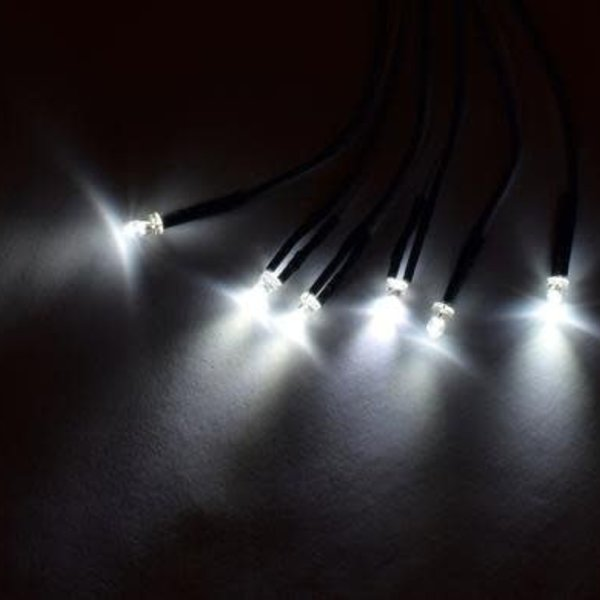 APEX Apex RC Products 3mm White LED Kit - For RPM Light Bar #9032