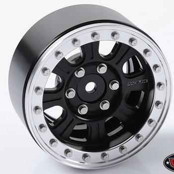 RC4 Z-W0189 Raceline Monster 1.9 Beadlock Wheels Blk/Slv (4