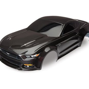 Traxxas 8312X Body, Ford Mustang, black (painted, decals applied)