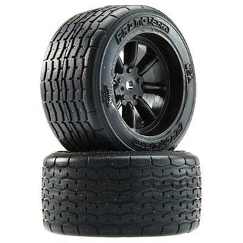 10139-18 VTA Rear Tires (31mm) Mounted Black Wheels (2)