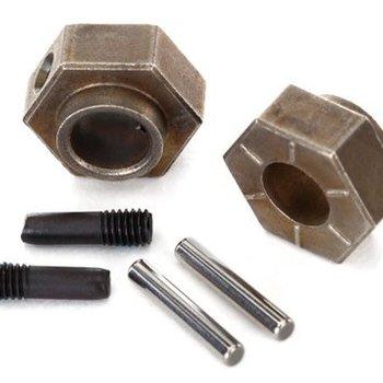 Traxxas 8269 Wheel hubs, 12mm hex (2)/ stub axle pins (2) (steel) (fits TRX-4)