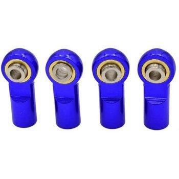 HOT RACING RVO160AHBN06 Blue 7075 Aluminum Push Rod Ends (4)