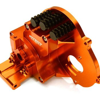 Integy ALLOY GEARBOX HOUSING FOR TRAXXAS 1/10 STAMPEDE 2WD, RUSTLER, BANDIT & BIGFOOT C28196orange New Item