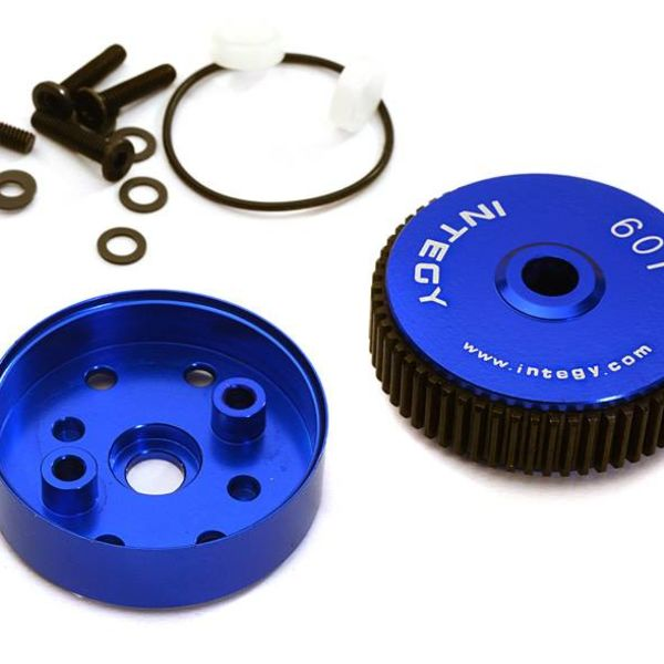 Integy ALLOY DIFF HOUSING FOR 1/10 SLASH 2WD, STAMPEDE 2WD, RUSTLER, BANDIT & BIGFOOT C28187BLUE New Item