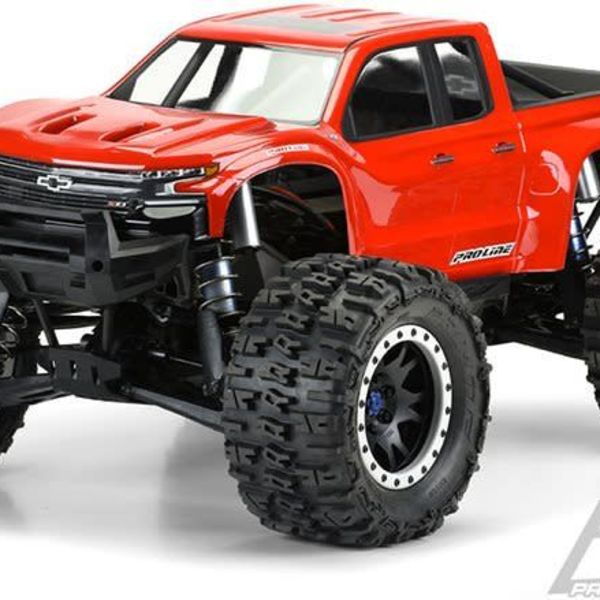 3507-17 | Pro-Line 1/5 Traxxas X-Maxx 2019 Chevy Silverado Z71 Trail Boss Pre-Cut Clear Body Shell
