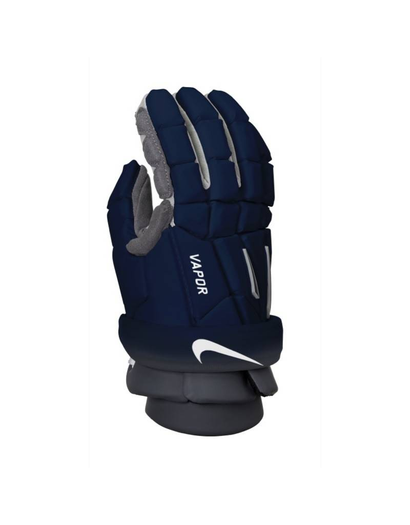 NIKE VAPOR GLOVES - NAVY , LARGE