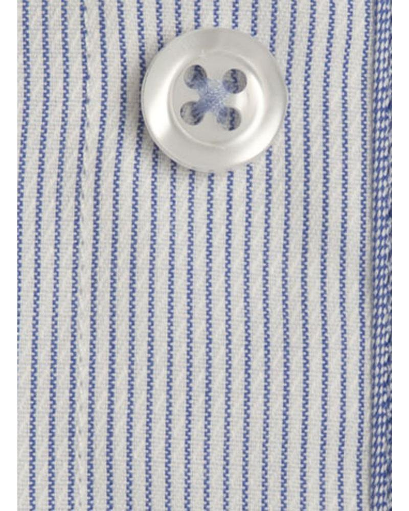 XOOS Men's blue striped fitted shirt (Double Twisted)