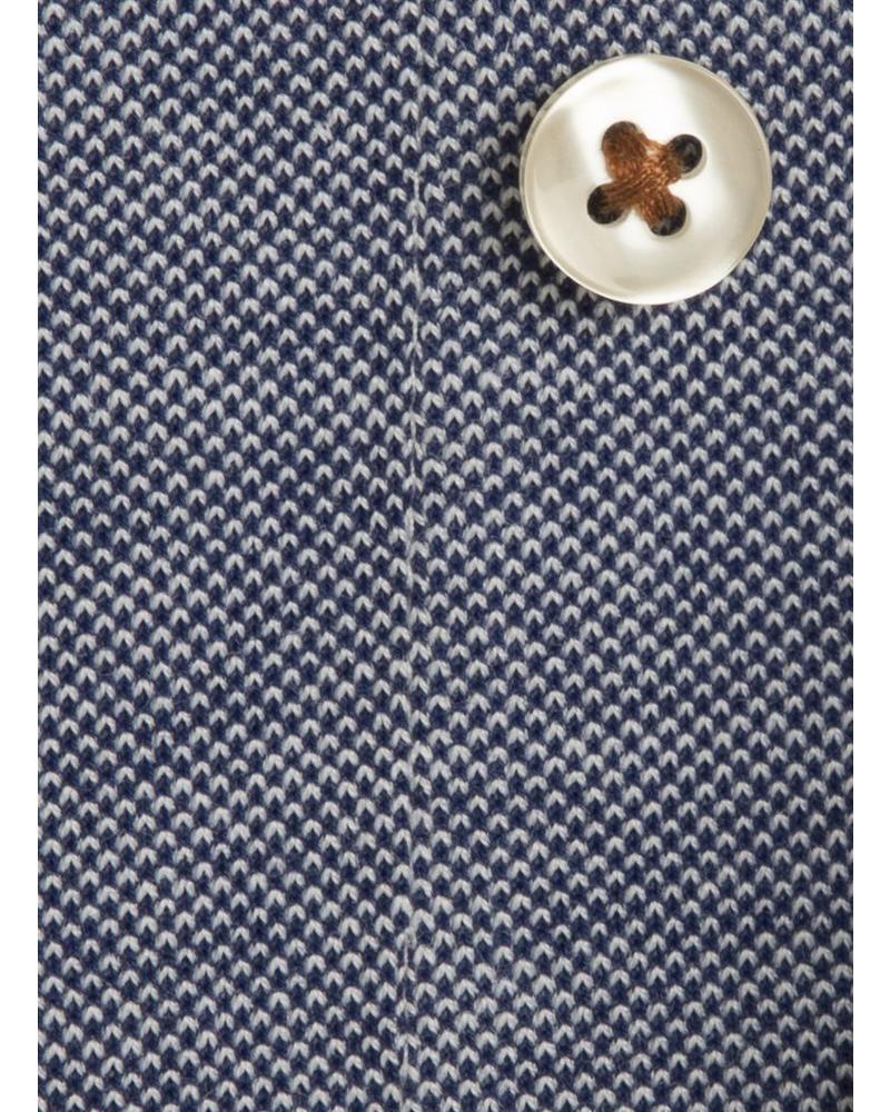 XOOS Men's blue elbowpaded jersey cotton shirt