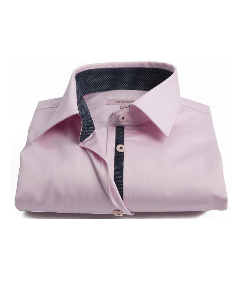 XOOS Women pink shirt polka dots lining