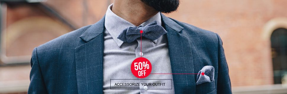 Men's accessories. Step up the game of your men's shirt by hand