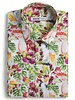 XOOS Men's Tropical print fitted shirt