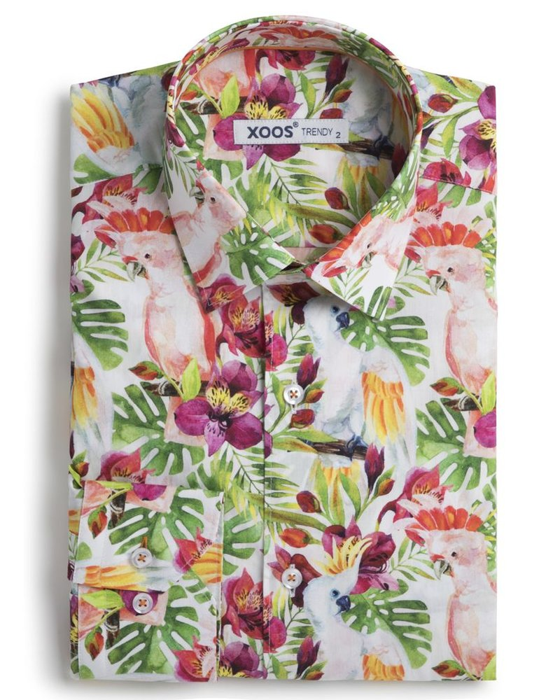 93bb215e569 Men s Tropical print fitted shirt - XOOS.CA