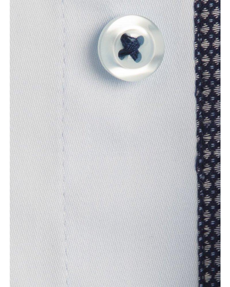 XOOS Chemise homme bleu diamant doublure à motifs navy