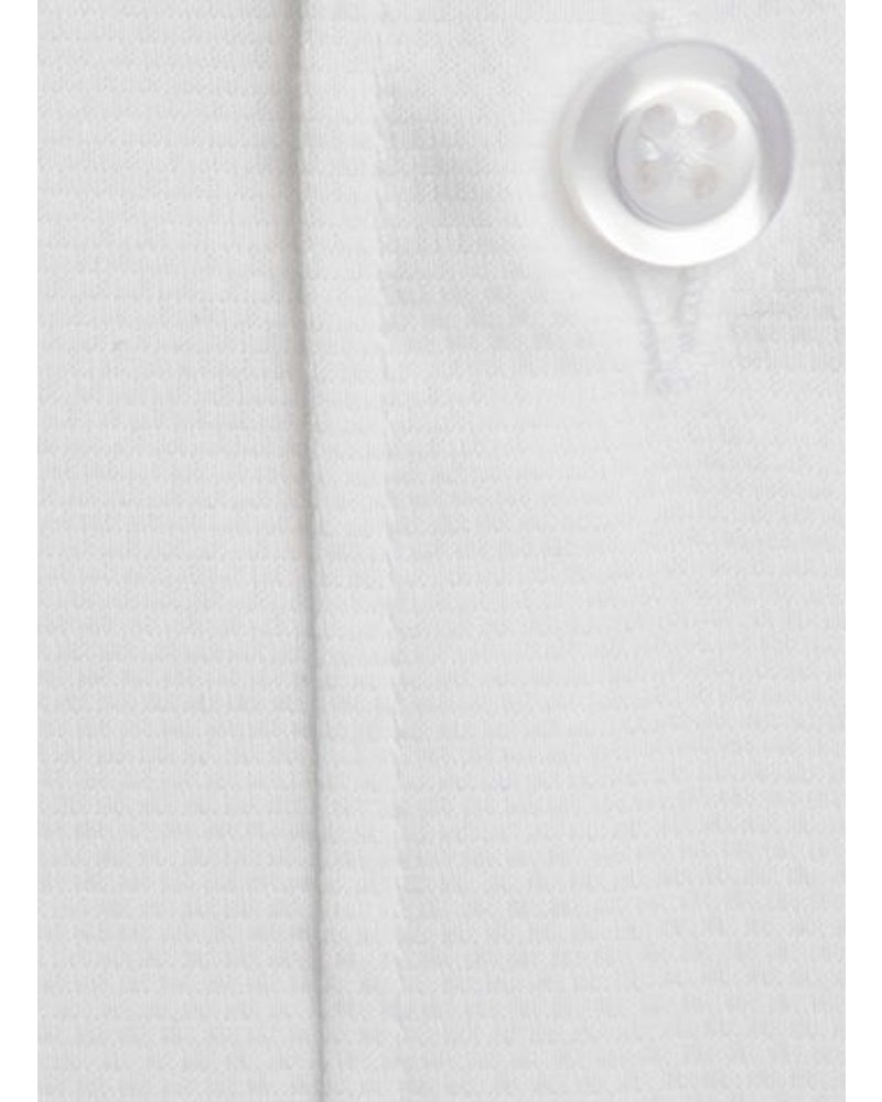 XOOS Men's CLASSIC-FIT white dress shirt Full Spread collar (Double Twisted)