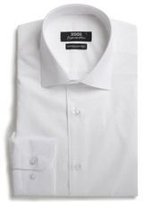 XOOS Men's white dress shirt French collar (Double Twisted)