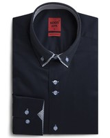 XOOS Chemise homme navy double col boutonné