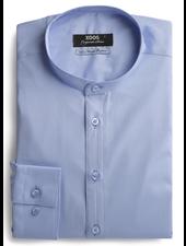 XOOS Men's blue shirt officer collar