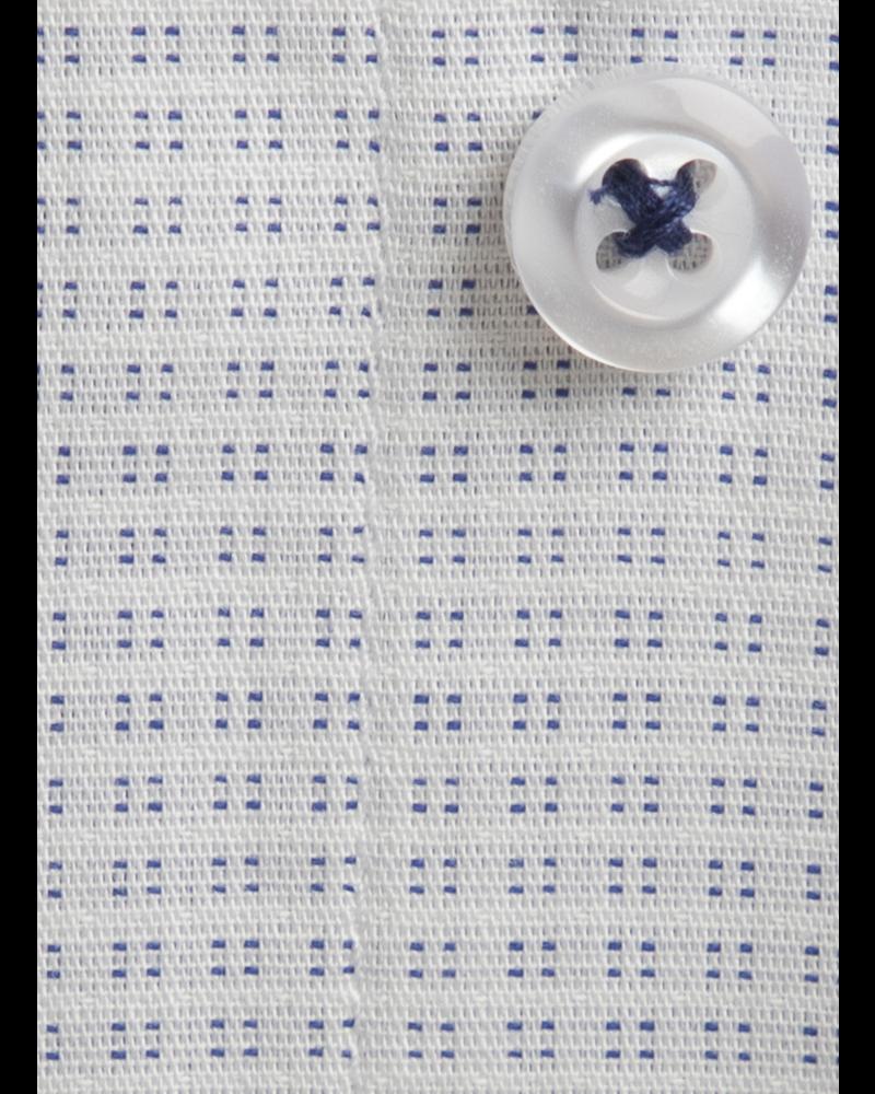 XOOS Chemise homme à motifs tissés bleus