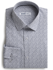 XOOS Men's shirt with navy floral prints