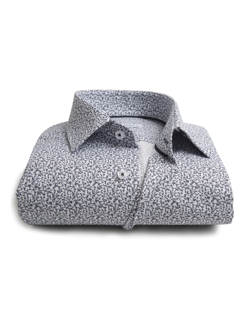XOOS Men's shirt with navy floral prints
