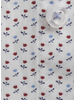 XOOS Chemise homme blanche à motifs imprimés floral rouge