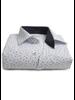XOOS Men's white shirt with blue patterns prints
