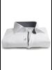 XOOS Men's white shirt woven gray lining
