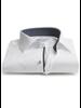 XOOS Men's white shirt woven navy lining