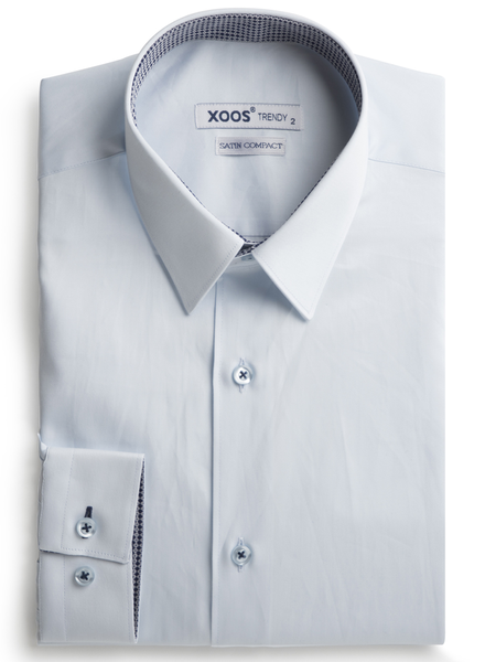 XOOS Men's diamond blue shirt woven navy and gray lining