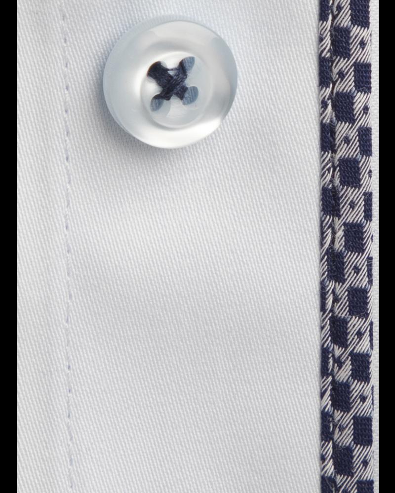 XOOS Men's diamond blue shirt woven navy and gray lining