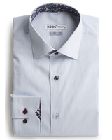 XOOS Men's light blue shirt floral lining and colored buttons (Double Twisted)