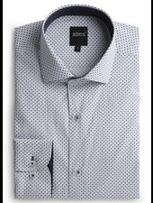 XOOS Men's printed lightblue and navy diamond pattern