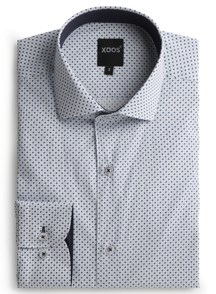 XOOS Men's printed lightblue and navy diamond pattern