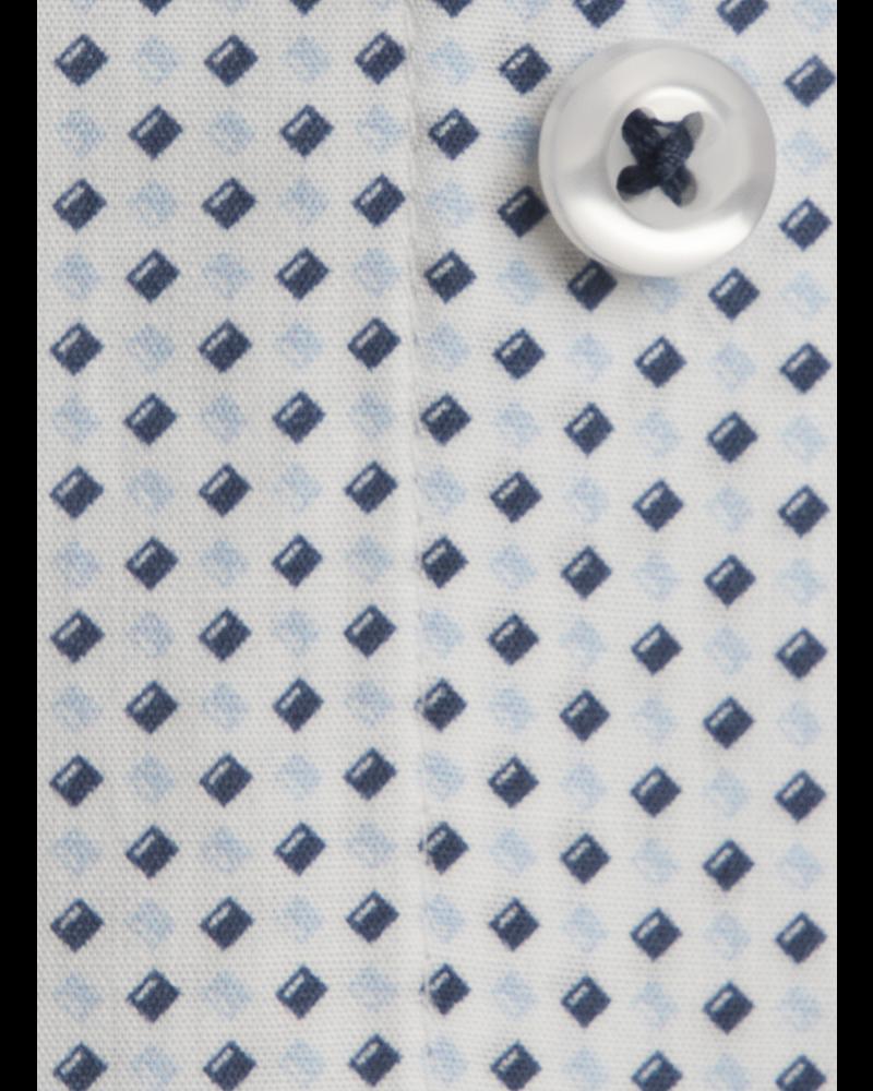 XOOS Chemise homme à motifs imprimés diamants ciel et navy