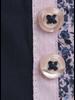 XOOS Chemise homme navy à double col rose et doublure à imprimé floral
