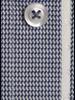 XOOS Chemise homme motif pied de poule navy doublure en jacquard blanc