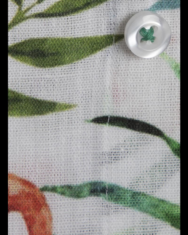 XOOS Chemise homme blanche imprimé flamant rose tropical