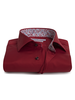 XOOS Burgundy fitted dress shirt flower lining