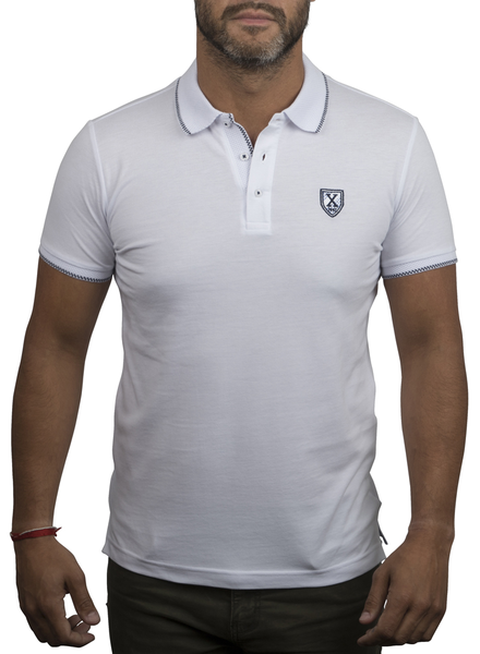 XOOS White polo shirt for men