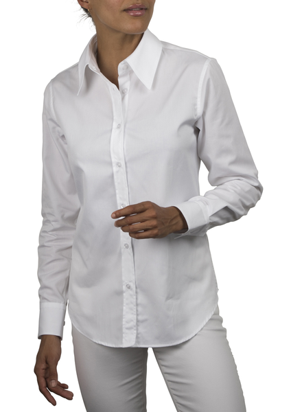 XOOS WOMEN'S white dress shirt (Comfort cut)