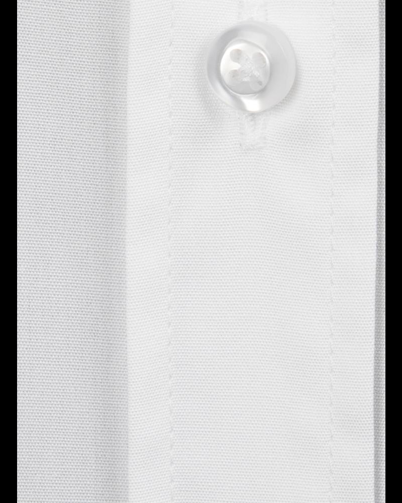 XOOS Chemisier femme blanc uni en popeline de coton