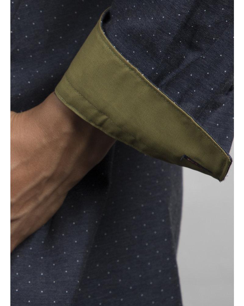 XOOS Celia x XOOS collaboration : Navy polka dots tunic kaki lining