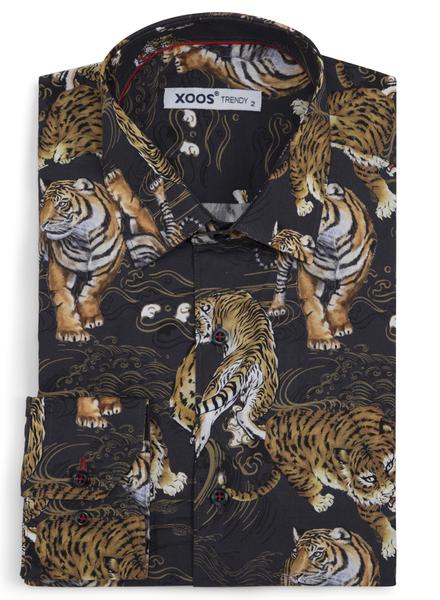 """XOOS Chemise homme """"The notorious"""" avec imprimé tigre"""