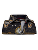 "XOOS Men's black ""Notorious"" fitted dress shirt with tiger prints"